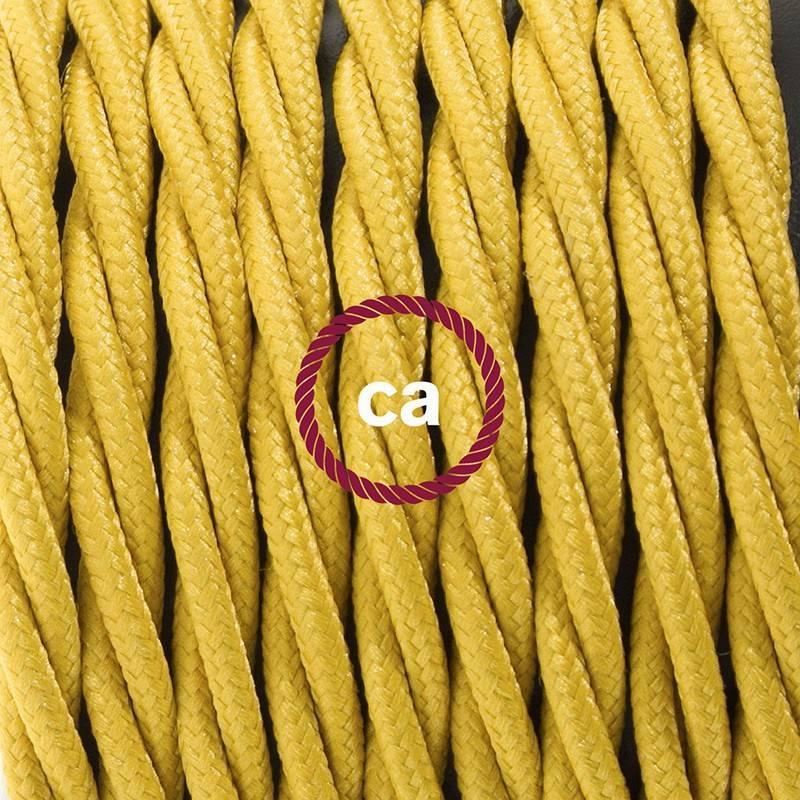Cableado para lámpara, cable TM25 Efecto Seda Mostaza 1,8m. Elige tu el color de la clavija y del interruptor!