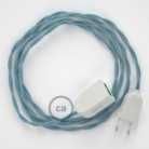 Alargador eléctrico con cable textil TC53 Algodón Oceano 2P 10A Made in Italy.