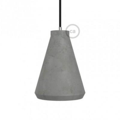 Pantalla de cemento Embudo completo de prensaestopa y portalámpara E27