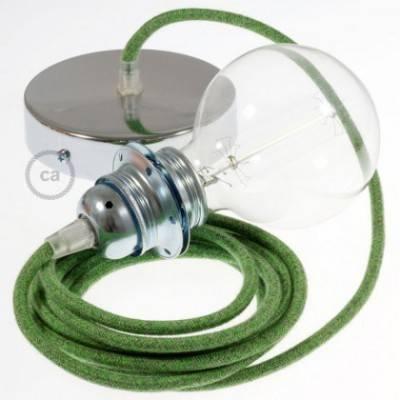 Pendel para pantalla, lámpara colgante cable textil Bronte en Algodón RX08