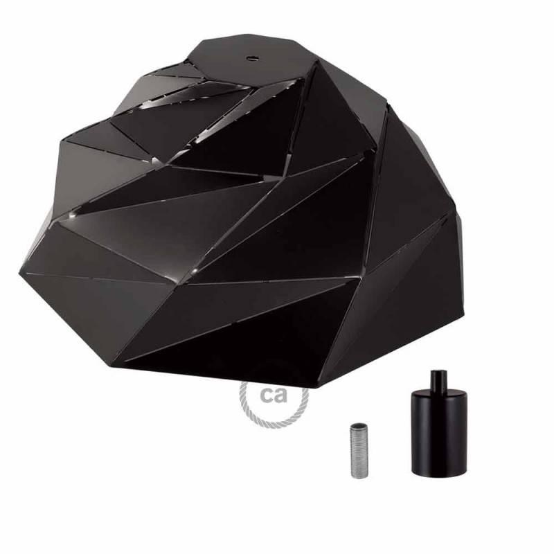 Pantalla Nuvola de metal negra opaca con portalámpara E27