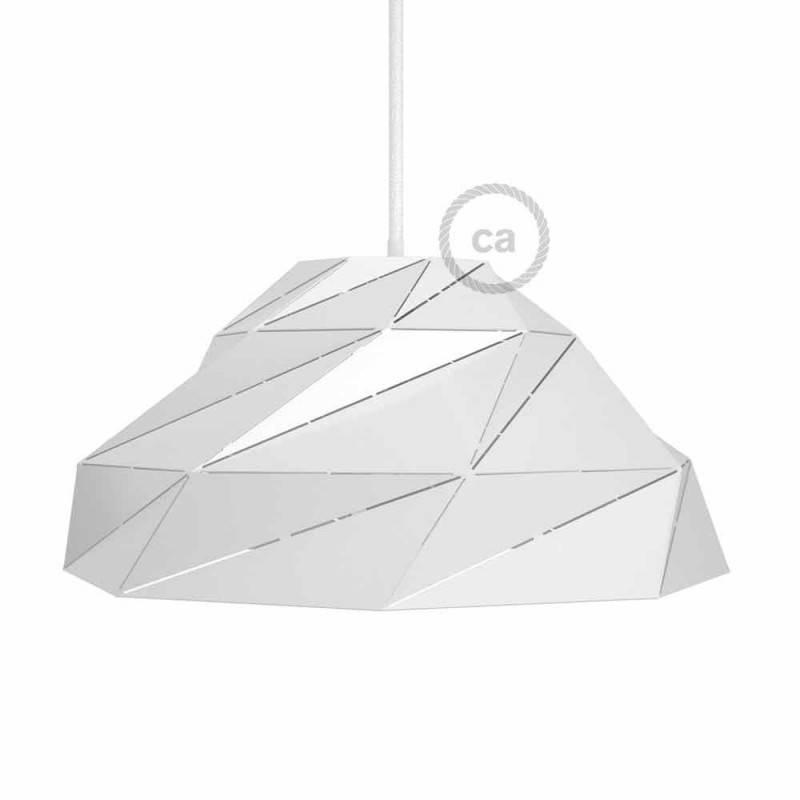 Pantalla Nuvola de metal blanca brillante con portalámpara E27