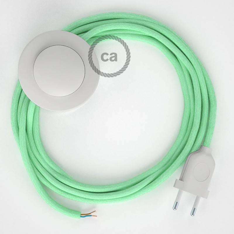 del y tu Leche la interruptor de RC34 Algodón lámpara el piecable color y 3 Menta mElige clavija de Cableado para 8On0wPyNvm