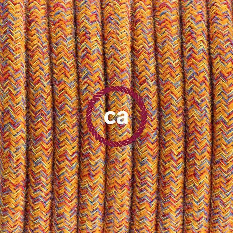 Cableado para lámpara de pie, cable RX07 Algodón Indian Summer 3 m. Elige tu el color de la clavija y del interruptor!
