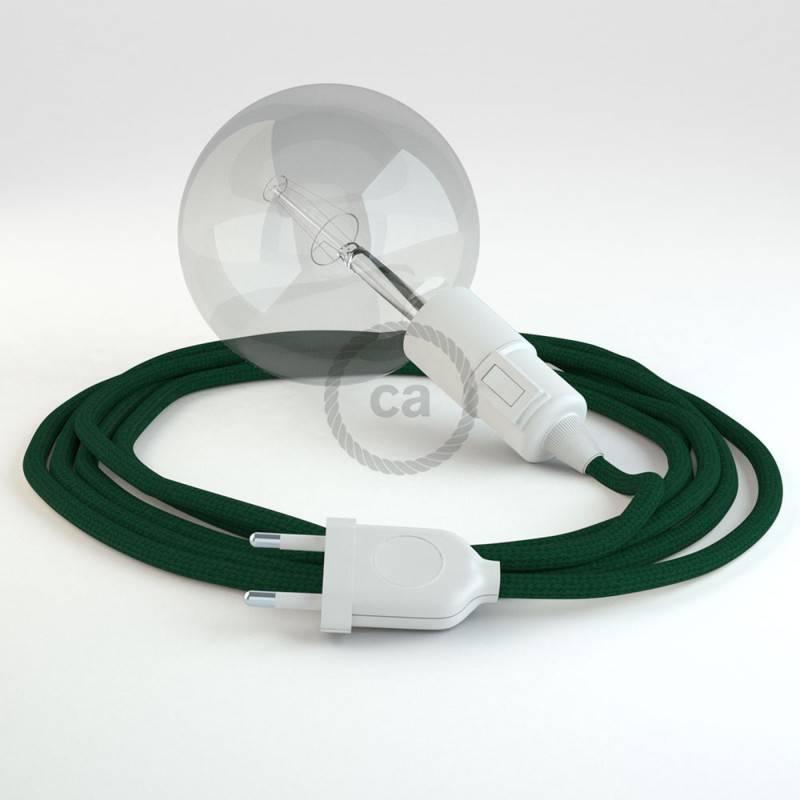 Crea tu Snake Efecto Seda Verde Oscuro RM21 y trae la luz donde tu quieras.