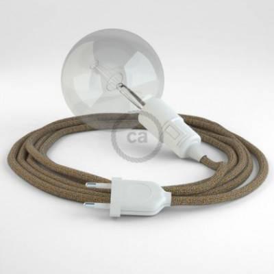 Crea tu Snake Glitter en Lino Natural Marrón RS82 y trae la luz donde tu quieras.
