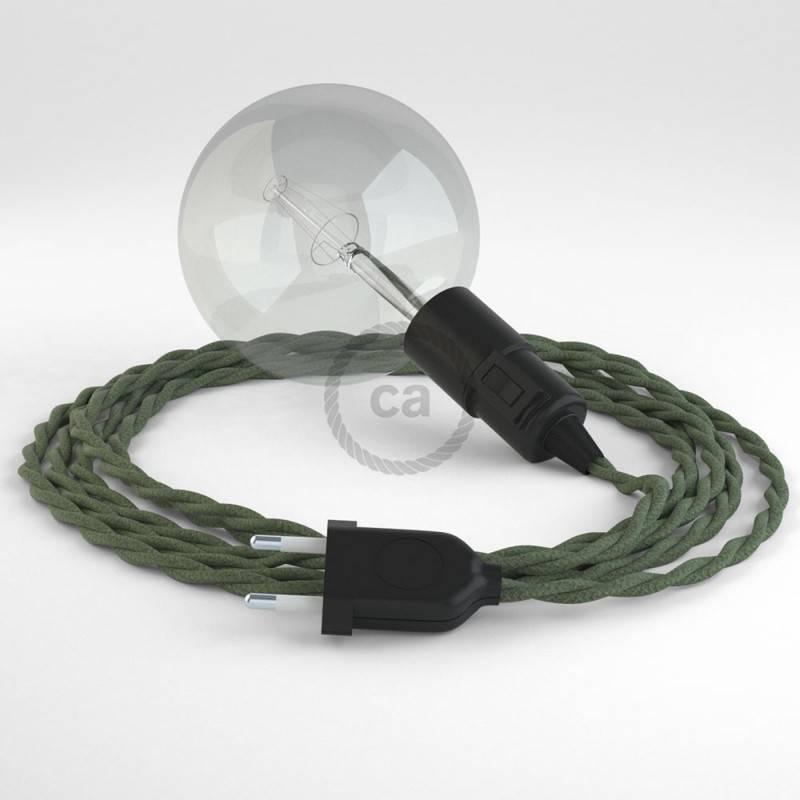 Crea tu Snake Algodón Gris Verde TC63 y trae la luz donde tu quieras.