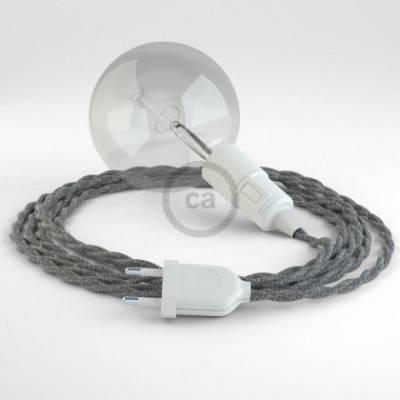 Crea tu Snake Lino Natural Gris TN02 y trae la luz donde tu quieras.