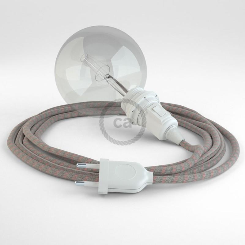 Crea tu Snake para pantalla Stripes Rosa Antico RD51 y trae la luz donde tu quieras.