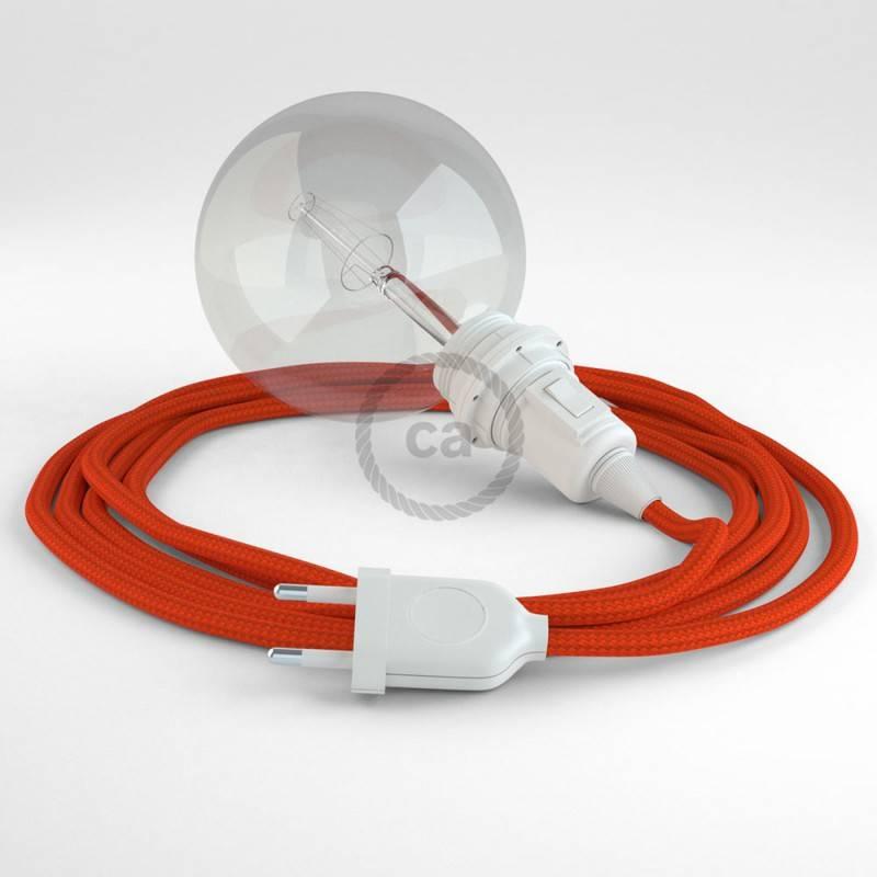 Crea tu Snake para pantalla Efecto Seda Naranja RM15 y trae la luz donde tu quieras.