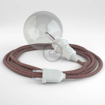 Crea tu Snake para pantalla Glitter en Lino Natural Rojo RS83 y trae la luz donde tu quieras.