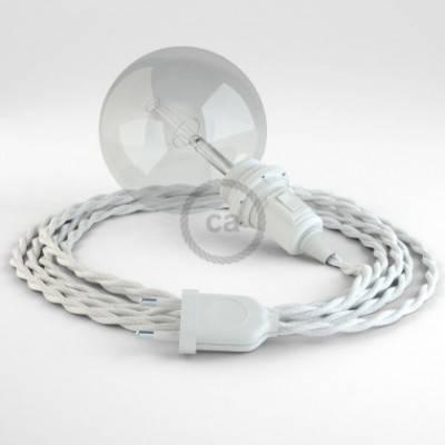 Crea tu Snake para pantalla Algodón Blanco TC01 y trae la luz donde tu quieras.