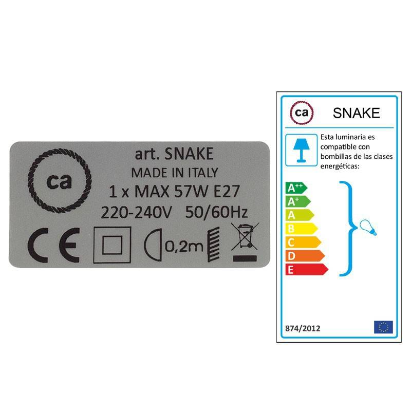 Crea tu Snake para pantalla Algodón Negro TC04 y trae la luz donde tu quieras.