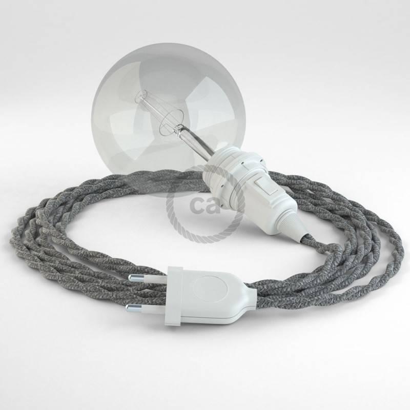 Crea tu Snake para pantalla Lino Natural Gris TN02 y trae la luz donde tu quieras.