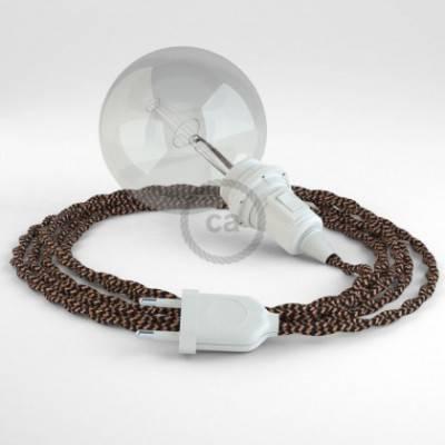 Crea tu Snake para pantalla Efecto Seda Negro e Whiskey TZ22 y trae la luz donde tu quieras.