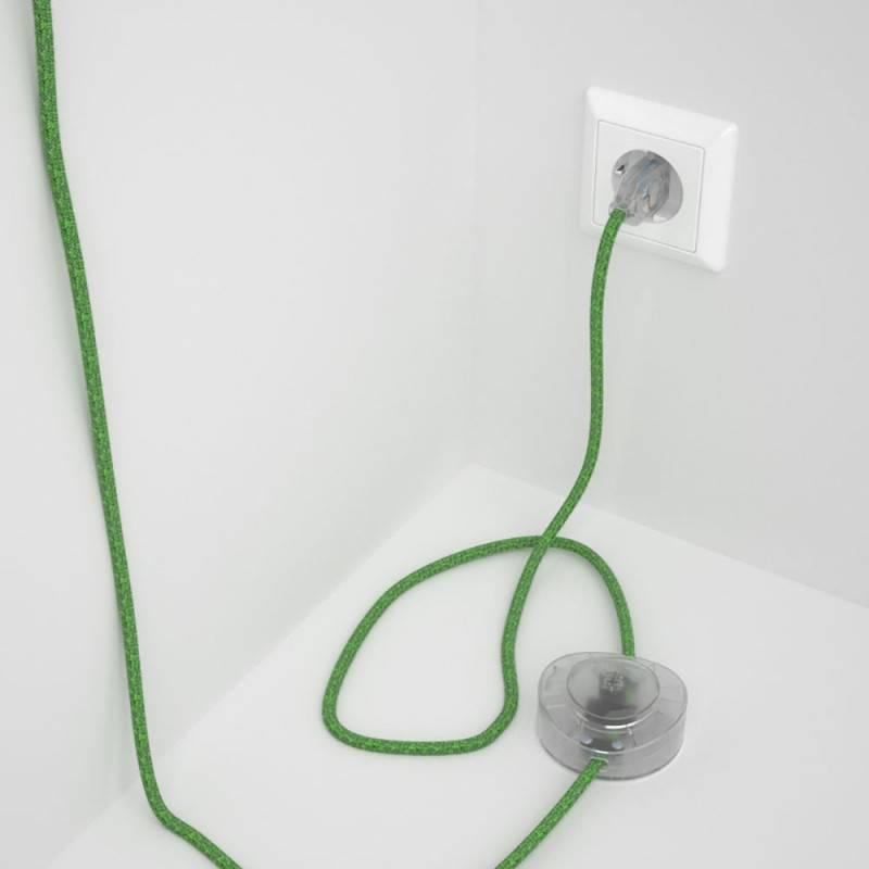 Cableado para lámpara de pie, cable RX08 Algodón Bronte 3 m. Elige tu el color de la clavija y del interruptor!