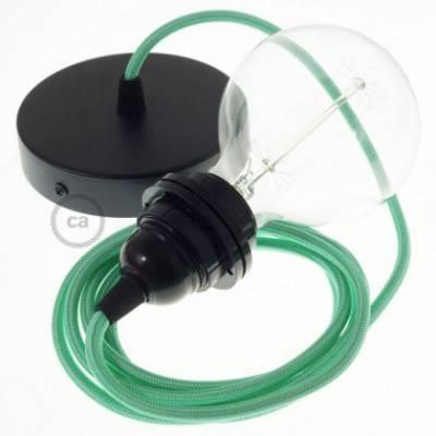 Pendel para pantalla, lámpara colgante cable textil Ópalo en tejido Efecto Seda RH69