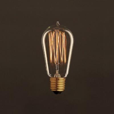 Bombilla Vintage Dorada Edison ST58 Filamento de Carbono Tipo Jaula 30W E27 Dimmable 2000K