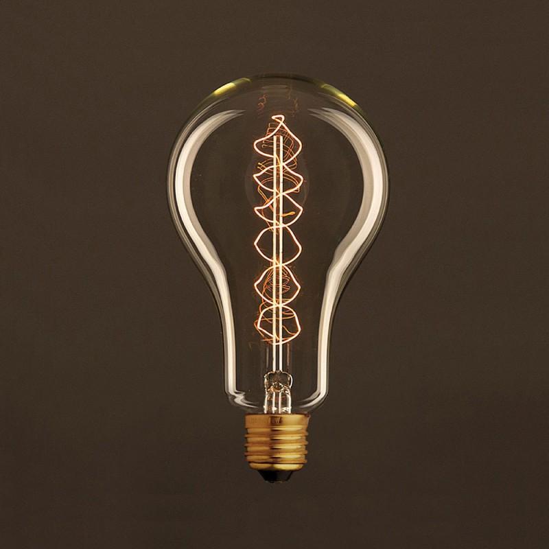 Bombilla Vintage Dorada Standard A95 Filamento de Carbono con Doble Espiral 30W E27 Dimmable 2000K