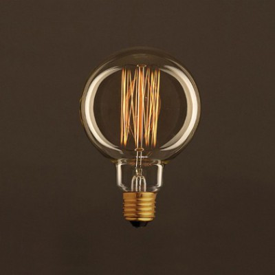 Bombilla Vintage Dorada Globo G95 Filamento de Carbono tipo Jaula 25W E27 Dimmable 2000K