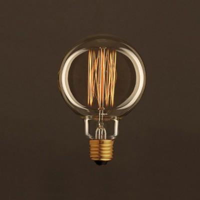 Bombilla Vintage Dorada Globo G95 Filamento de Carbono tipo Jaula 30W E27 Dimmable 2000K