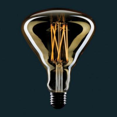 Bombilla Dorada LED BR125 Filamento tipo jaula 4W E27 Dimmable 2000K