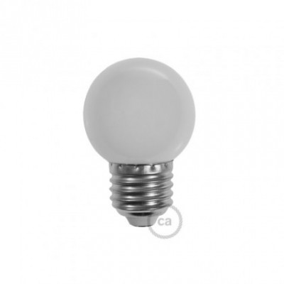 Bombilla Decorativa G45 Mini Globo LED 1W E27 2700K - Blanco Leche