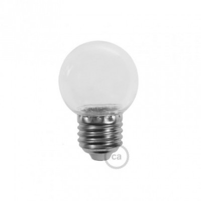 Bombilla Decorativa G45 Mini Globo LED 1W E27 2700K - Transparente