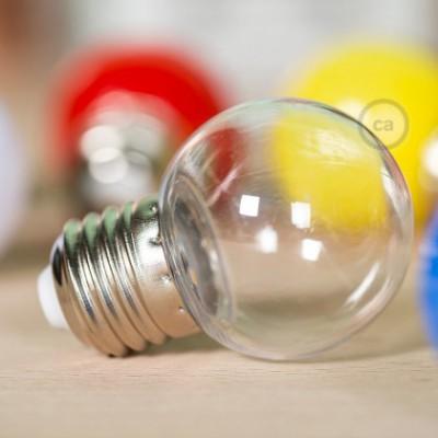 Bombilla Decorativa G45 Mini Globo LED 1W E27 2700K - Transparente