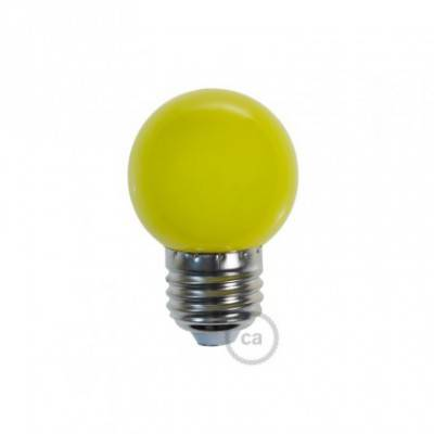 Bombilla Decorativa G45 Mini Globo LED 1W E27 2700K - Amarilla