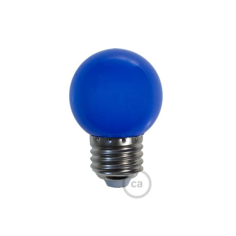 Bombilla Decorativa G45 Mini Globo LED 1W E27 2700K - Azul