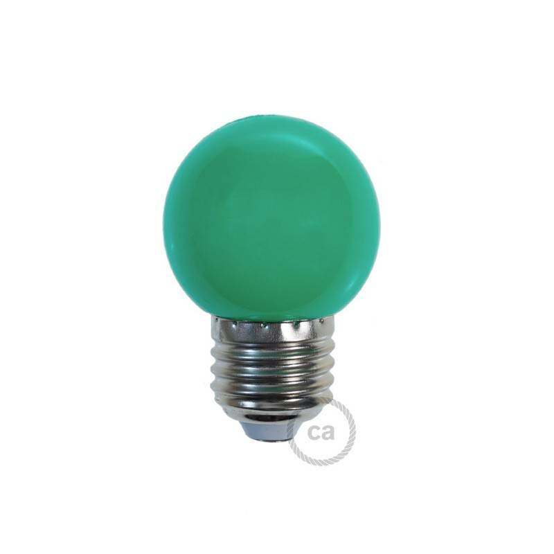 Bombilla Decorativa G45 Mini Globo LED 1W E27 2700K - Verde