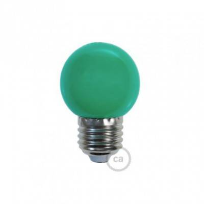 Bombilla Decorativa G45 Mini Globo LED 1W E27 2700K - Verde