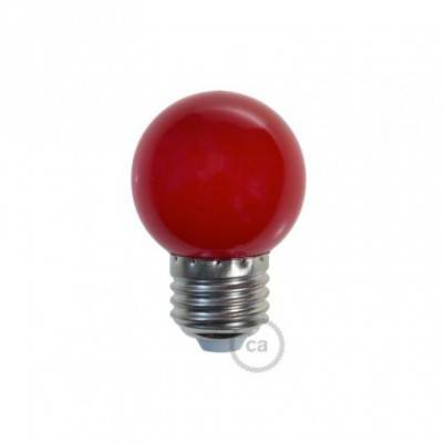 Bombilla Decorativa G45 Mini Globo LED 1W E27 2700K - Rojo