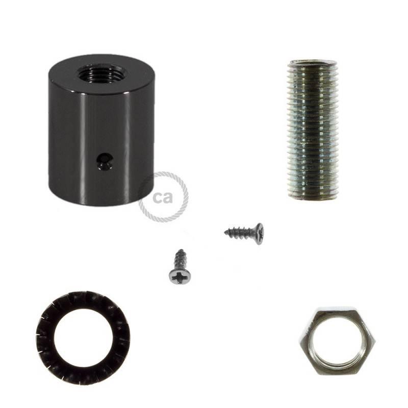 Racor de metal Negro Perla para Creative-Tube 16 mm, accesorios incluidos