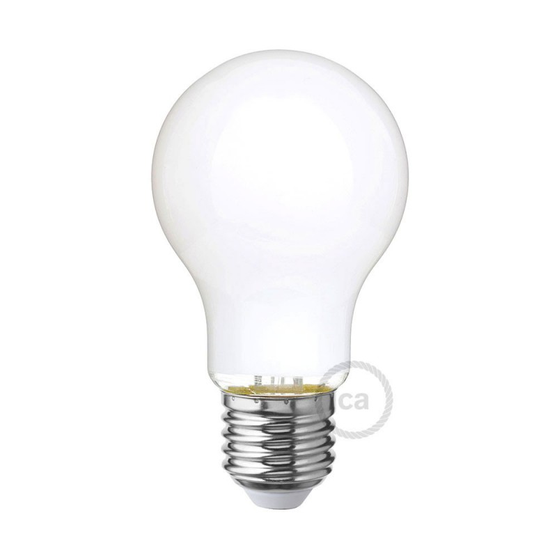 Bombilla LED Blanco Leche Standard A60 6W E27 Regulable 2700K