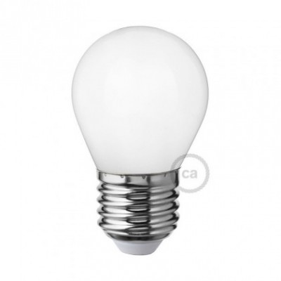 Bombilla LED Blanco Leche Mini Globo G45 4W E27 Regulable 2700K