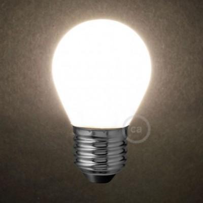 Bombilla LED Blanco Leche Mini Globo G45 4W E27 Regulable 2700K