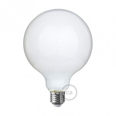 Bombilla LED Blanco Leche Globo G125 8W E27 Regulable 2700K