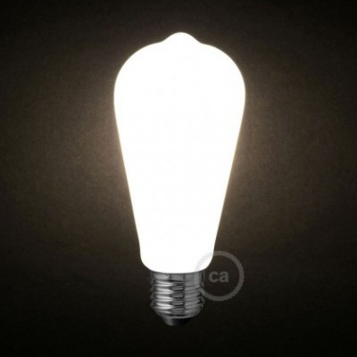 Bombilla LED Blanco Leche Edison ST64 6W E27 Regulable 2700K