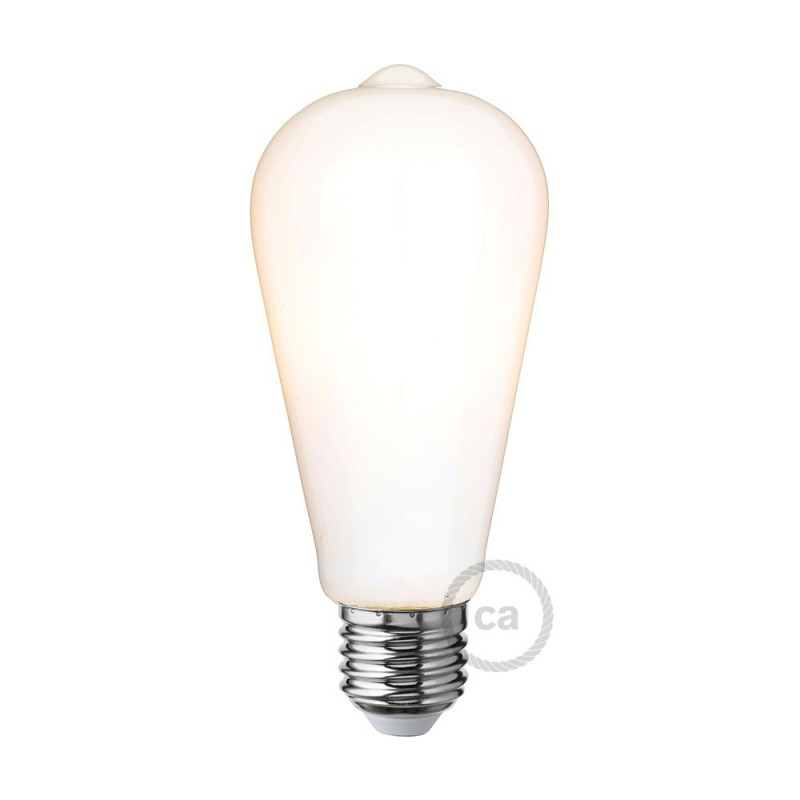 Bombilla LED Blanco Leche Edison ST64 6W E27 Regulable 2700K