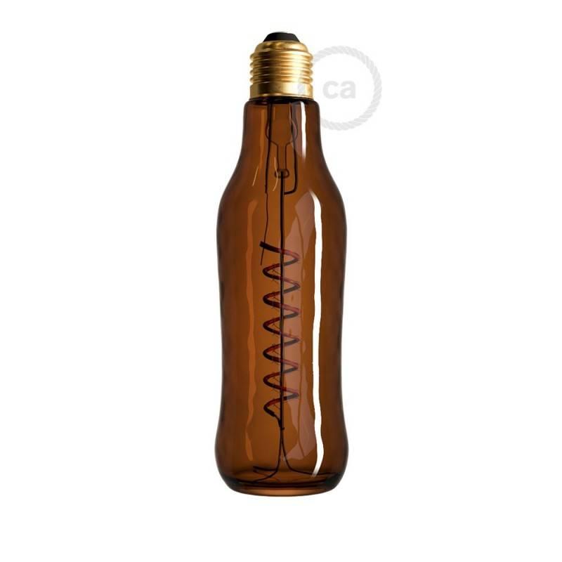Bombilla LED Beer Marrón 8W E27 Regulable 1800K