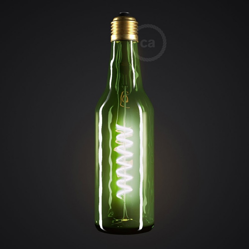 Bombilla LED Beer Verde 8W E27 Regulable 2800K
