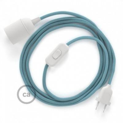 SnakeBis cableado con portalámpara cable textil Oceano en Algodón RC53
