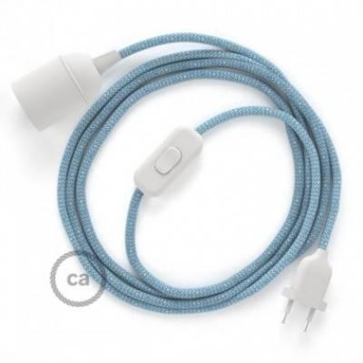 SnakeBis cableado con portalámpara cable textil ZigZag Azul Steward RD75