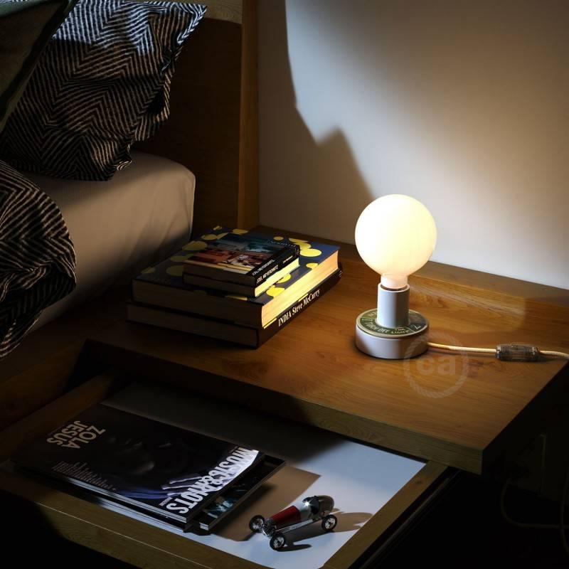 MINI-UFO: disco de madera reversible READING BALLSH*T colección, tema 2 PAGES + LOVE READING