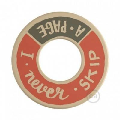 MINI-UFO: disco de madera reversible READING BALLSH*T colección, tema PAGE+SCENT OF PAPER