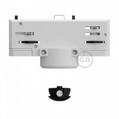 Multi-adaptador suspensión Eutrac para carril electrificado trifásico en color blanco