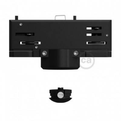 Multi-adaptador suspensión Eutrac para carril electrificado trifásico en color negro