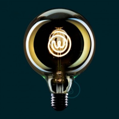Bombilla LED Globo G125 Masterchef filamento Logo 4W E27 Regulable 2000K